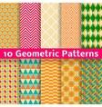 Geometric patterns tiling Set of seamless vector image