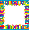 colorful frame with hand silhouettes vector image