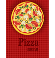 pizza menu red vector image vector image