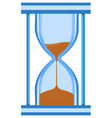hour glass timer vector image vector image