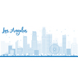 Los Angeles Skyline with Blue Buildings vector image