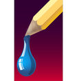 dripping pencil vector image vector image