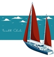 Yacht club vector image