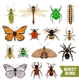 Insects Icons Set vector image