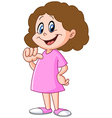 girl pointing at herself vector image