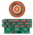 American roulette table vector image