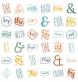 Ampersands and catchwords vector image