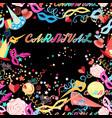 background festive carnival vector image