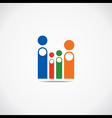 creative family icon vector image