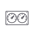 dual control meter line icon sig vector image