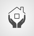 Icon home vector image