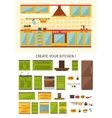 Interior Kitchen Creation vector image