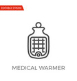 medical warmer icon vector image