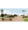 Military Base Camp Side View vector image