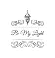 Retro Street Lamp Badge Ornament Decoration Swirls vector image vector image
