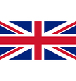 British Flag With Real Colours And Proportions vector image