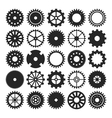 set of gear wheels isolated on white background vector image vector image