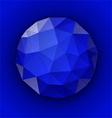 Blue polygonal button vector image