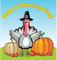 turkey for thanksgiving day vector image vector image