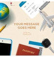 Travelling background travel and vacation concept vector image