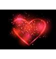 Shining valentines heart vector image