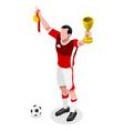Soccer Winner 2016 Sports 3D Isometric vector image