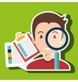 men and papers isolated icon design vector image