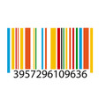 barcode image vector image