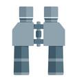 binoculars flat icon on white background vector image