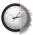 business background clock vector image