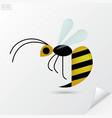 Cartoon honey bee in flat style vector image