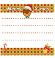 Christmas wishlist vector image
