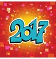Figures 2017 symbol of the New year vector image