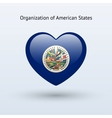 Love Organization of American States symbol vector image