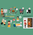 online market infographic set with charts and vector image