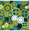 seamless background with gear cogwheel gearwheel vector image