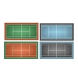 Set of combinated tennis courts vector image