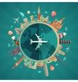 Travel around the world flat design vector image
