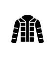 winter jacket - down jacket - outdoor icon vector image