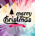 wish you merry christmas colorful vector image