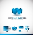 Corporate business lotus flower logo icon design vector image