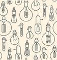 seamless pattern made of linear lightbulbs vector image