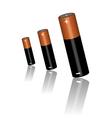 Three batteries vector image
