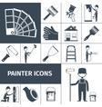 Painter icons set black vector image