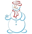 snowball in a hat vector image