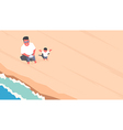 Drone selfie on the beach vector image