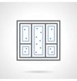 Snowy window simple line icon vector image