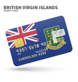 Credit card with British Virgin Islands flag vector image