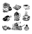 vintage coffee set vector image vector image