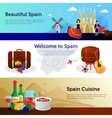 Spain Welcome Travelers Banners Set vector image